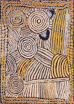 Walangkura Napanangka - Lupul - Peewee Dreaming story - WN0601178 - 122x91cm http://www.aboriginalsignature.com/art-aborigene-papunya-tula/walangkura-napanangka-lupul-peewee-dreaming-story-wn0601178-122x91cm