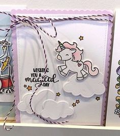Avery Elle Be A Unicorn Clear Photopolymer Stamps Rainbow