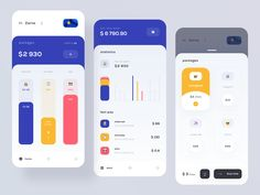 Mobile Balance designed by Tam Zarna. Connect with them on Dribbble; the global community for designers and creative professionals. Web Design Mobile, Dashboard Design, App Ui Design, Interface Design, User Interface, Flat Design, Site Design, Layout Design, Dashboard Mobile