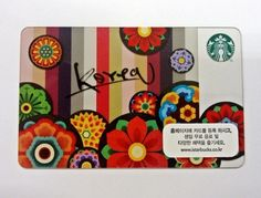STARBUCKS KOREA Gift Card_Korea flower Dancheong card_2013 Edition #STARBUCKS