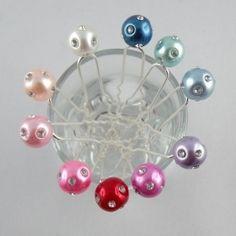 Lot 5 épingles Perles Strass - Epingles à Cheveux - Accessoires de Mariage  - Eclats de Cristal 44b737f95516