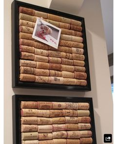 DIY picture and letter holder with corks