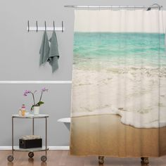 Bree Madden Ombre Beach Shower Curtain | DENY Designs Home Accessories