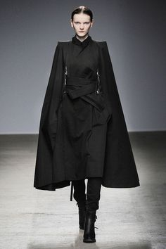 Nicolas Andreas Taralis. Sculptural tailoring: love the look of those sleeves.
