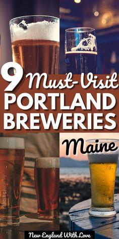 Portland Tourism, Portland Breweries, Visit Portland, Portland Maine, Maine New England, New England Fall, New England Travel, Travel Usa, Travel Maine