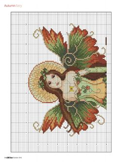 3 of 6 Autumn Fairy  From Cross Stitch Collection N°267 October 2016                                                                                                                                                                                 More