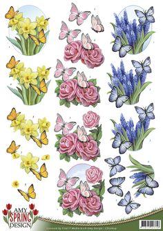 3D Knipvel - Amy Design - Spring - Butterflies