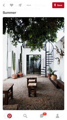 Modern Spanish style garden space