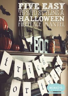 Five Easy Tips to Styling a Halloween Mantel by Three Little Monkeys Studio