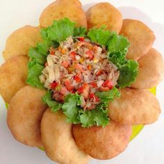 saltfish buljol and fried bakes