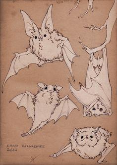 Fluffy Bats by Evara Hargreaves