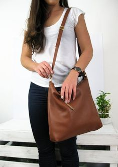 847d6477d9 HOBO BAG BROWN Women Leather Handbag Brown Hobo Crossbody Bag Soft Leather  Bag Leather Purse Festiva