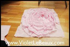 Rose cushion cover tutorial