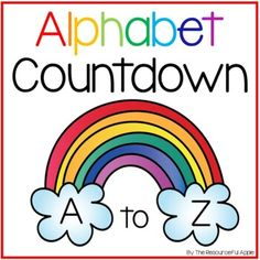 Alphabet Countdown by The Resourceful Apple Alphabet Writing, Alphabet Activities, Making Words, Preschool Graduation, Scavenger Hunts, Boot Camp, Show And Tell, Task Cards, Distance