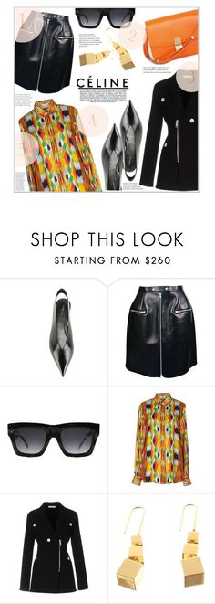 """""""CELINE"""" by jckallan ❤ liked on Polyvore featuring CÉLINE, Industrie, celine and contestentry"""