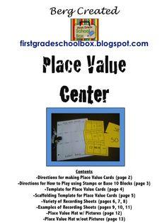 First Grade School Box: Math Centers