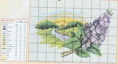 prima zi: diagrame goblen - lunile anului Cross Stitch House, Just Cross Stitch, Cross Stitch Flowers, Floral Embroidery Patterns, Ribbon Embroidery, Embroidery Stitches, Funny Cross Stitch Patterns, Cross Stitch Designs, Flower Sketches