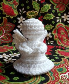 Little Crochet Angel Oombawka Design Crochet, free pattern, X-mas, decoration, #haken, gratis patroon (Engels), Kerstmis, decoratie, engel, #haakpatroon