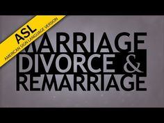 The Truth About... Marriage, Divorce and Remarriage - YouTube