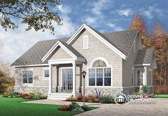 CONFORTABLE & ABORDABLE   Plain pied champêtre très économique de 3 chambres, beaucoup de fenêtres  http://www.dessinsdrummond.com/detail-plan-de-maison/info/kimberley-americain-1002131.html