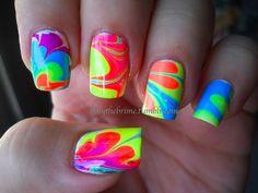 Uñas de neon - Neon nails