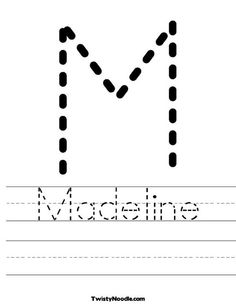 Tracing Letter M Worksheet