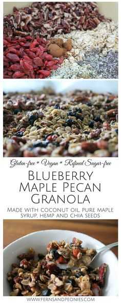 ... Maple Pecan Granola. Made with coconut oil and pure maple