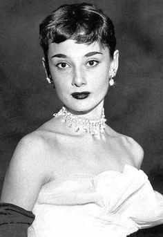 Audrey Hepburn modeling