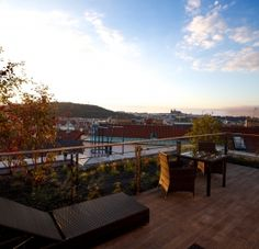 Penthouse terrace. Hotel Mosaic. Prague