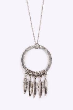 Metal Dream Catcher Necklace