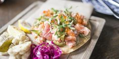 Right off the Strand in Hermosa Beach, Dia de Campo serves Mexican style seafood tacos and dishes.