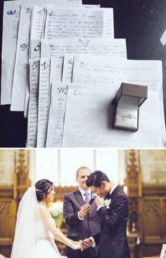 These love letters that were written over three years and revealed a secret proposal.