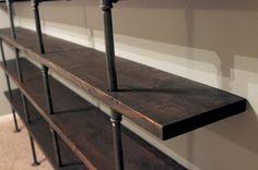 DIY Industrial Shelves | Gray House Studio