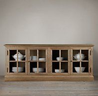 French Casement Low Cabinet   Console Tables   Restoration Hardware