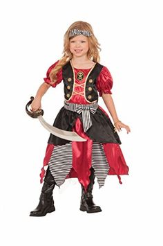 Forum Novelties Girls Buccaneer Princess Costume Multicolor Medium >>> Details can be found by clicking on the image.