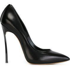 Casadei Stiletto Pumps (2.375 RON) ❤ liked on Polyvore featuring shoes, pumps, black, black shoes, leather stiletto shoes, real leather shoes, black stilettos and stilettos shoes