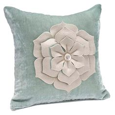 Fleur Pillow in Sage.