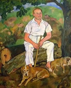 Suzanne Valadon, Andre Utter and his Dogs, 1932