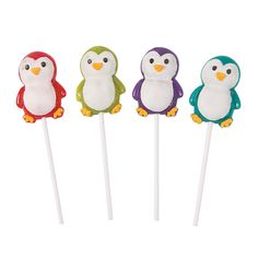 Holiday Brights Penguin Character Lollipops - OrientalTrading.com