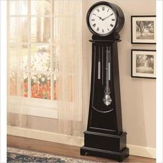 Coaster Grandfather Clock in Black
