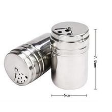 Edelstahl BBQ Gewürz-Streuer – Omeo Store Spice Shaker, Spice Storage, Dopp Kit, Spices, Salt, Herbs, Stainless Steel, Bottle, Travel