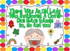 FREE Race to 20, 50 and 100 Games to go with There Was An Old Lady Who Swallowed A Clover