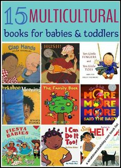 Multicultural books perfect for babies and toddlers.