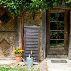 regentonne eckig wandtank norway 230 liter dunkelbraun. Black Bedroom Furniture Sets. Home Design Ideas
