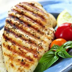 Lean Chicken    Never underestimate the importance of getting enough protein from your diet. Protein repairs muscle and cell damage, keeps skin firm and taught in its collagen form, and is essential for organ function and hormone production. You should aim to eat around 15-20g of protein with each meal. A grilled chicken breast is ideal, because it's low in fat and high in protein.