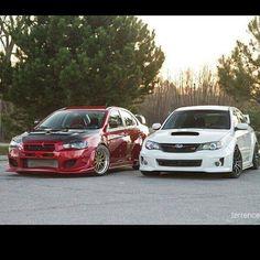 Mitsubishi vs Subaru!?