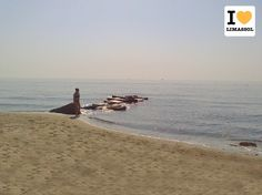 Early morning barefoot walks on the beach... Warn November air... This is our #Limassol