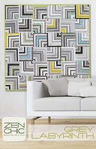 GREY LABYRINTH QUILT QUILTING PATTERN, From Zen Chic Patterns NEW