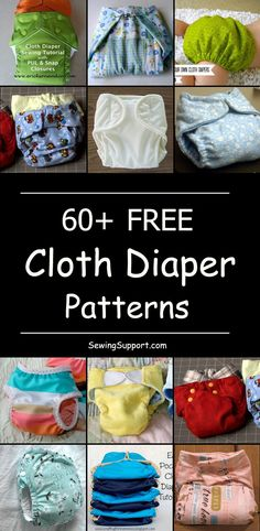 60 Free Cloth Diaper Patterns - Diapers - Ideas of Diapers - Diy cloth diapers. Over 60 free cloth baby diapers to sew. How to make cloth diapers. Diaper Cover Pattern, Cloth Diaper Pattern, Cloth Diaper Covers, Cloth Nappies, Fitted Cloth Diapers, Baby Sewing Projects, Sewing Projects For Beginners, Sewing Tutorials, Sewing Tips