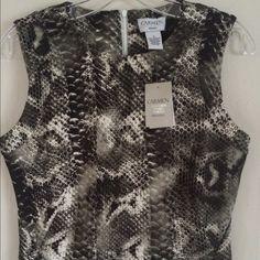 CARMEN MARC VALVO NWT Snakeskin knit Summer Dress! Brand new.  Pics tell story.  Curve hitting but not Bodycon.  Office perfect.  A knockout. Carmen Marc Valvo Dresses Mini